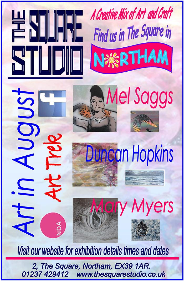 'Art In August' At The Square Studio, Northam, Devon